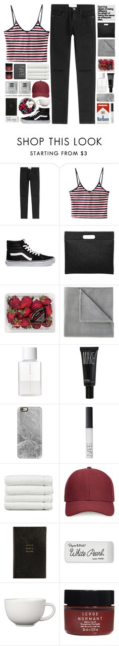 """""""people will love you and support you whe it's beneficial"""" by untake-n ❤ liked on Polyvore featuring Current/Elliott, Vans, FRUIT, Vellux, SUQQU, Make, Casetify, NARS Cosmetics, Linum Home Textiles and Whistles"""