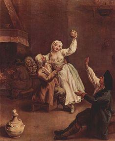 Jean-Honore Fragonard, The Stolen Kiss, 1780s  그림자 속 어두운 부분에 있는 어린 남성은 완전히 옆의 여성에게 빠져 있는 듯이 격렬한 애정표현을 하고 있다. 하지만 여성의 얼굴만 간신히 남성쪽으로 있을 뿐 여성의 시선, 몸의 움직이는 방향은 이 관계를 벗어나고픈 의지가 돋보인다. 한쪽만 하는 사랑, 혹은 여성은 이 관계에서 무슨 생각을 하는지 궁금해지는 이상한 커플이다.