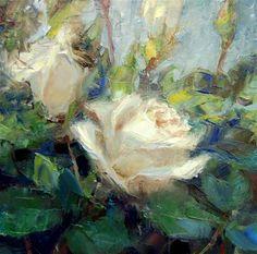 """Palette Knife and Brush"" by Julie Ford Oliver"