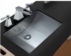 Ruvati 21 inch Stainless Steel Undermount Bathroom Vanity Sink Bathroom Sink Design, Undermount Bathroom Sink, Bathroom Sinks, Bathroom Ideas, Bathroom Fixtures, Kitchen Sinks, Bath Design, Bathroom Faucets, Kitchen Appliances