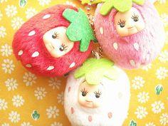 Kawaii Cute Strawberry Kewpie Keychain Plush Doll Mascot Japan by Kawaii Japan, via Flickr