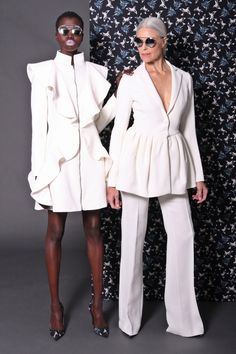 Loving the dress on the left-- Christian Siriano - Pre-Fall 2017