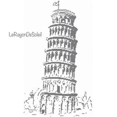 Cross+stitch+pattern+Pisa+tower+Italy+monument+by+LeRayonDeSoleil