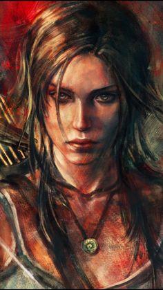 Tomb Raider Pc, Tomb Raider Lara Croft, Pencil Portrait Drawing, Collage Drawing, Raiders Tattoos, Rise Of The Tomb, Disney Animated Movies, Galaxy Art, Female Character Design