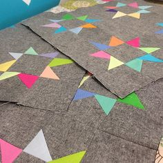 stars... Love this! Sunrise sunset konas with black Essex linen. Lovely contrast!