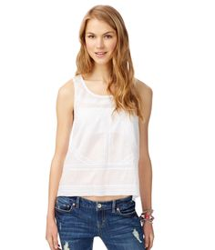 Sheer Lace Swing-Back Tank from Aéropostale