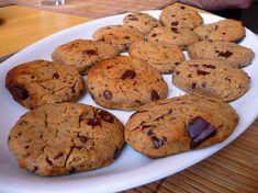 Cizrnové cookies s hořkou čokoládou - Veganza. Yams, Crinkles, Healthy Recipes, Healthy Food, Cookies, Fit, Healthy Foods, Crack Crackers, Shape
