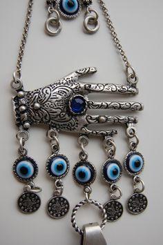 hamsa wall hangings | Lapis Hamsa Hand Wall Hanging Amulet Handmade Turkish Silver Plated ... Arabic Jewelry, Hamsa Jewelry, Turkish Art, Hand Of Fatima, Hamsa Hand, Lucky Charm, Blue Beads, Evil Eye, Jewelery