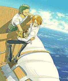 Love the random Luffy arm grabbing Sanji's leg.
