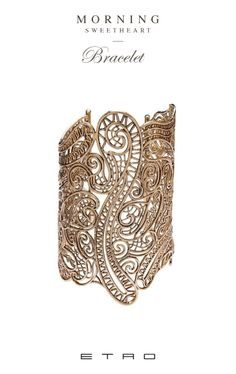 The Paisley Bracelet. Discover more on www.etro.com. #gold #jewellery #ethnic