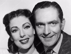 photo great twin shot Loretta Young Fredric March portrait 712-13