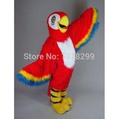 63d0ed456 Red Macaw Parrot Mascot Costume. Parrot CostumeAraCarnival CostumesMascot  ...