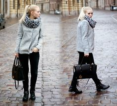Rozalia Fashion: Woolen Coat + black boots