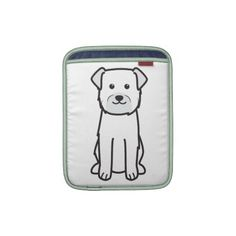 Border Terrier Dog Breed Cartoon iPad Sleeve