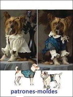 Ropa de perro moldes y ideas de ropa |