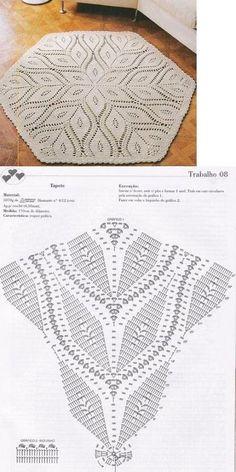 Crochet Patterns Filet, Crochet Tablecloth Pattern, Crochet Doily Diagram, Crochet Mandala, Crochet Motif, Crochet Doilies, Crochet Carpet, Crochet Home, Thread Crochet