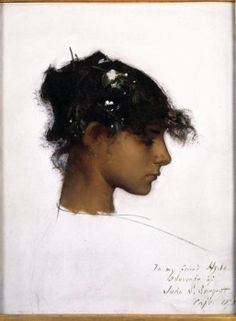John Singer Sargent, Rosina Ferrara, Head of a Capri Girl, about 1878, in the collection of the Denver Art Museum.COURTESY DENVER ART MUSEUM