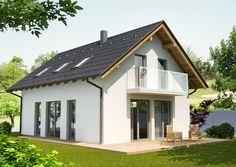 Výstavba rodinných domov - IDEÁLNE DOMY Attic Rooms, Shed, Outdoor Structures, Design, House Beautiful, Catalog, Balcony, Attic