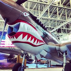 Curtis P-40 E Painted in AVG Markings in Hangar 79 at Pacific Aviation Museum Pearl Harbor #noseart