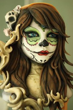Day of the dead cake by Sweet As Sugar Cakes - For all your cake decorating supplies, please visit craftcompany.co.uk