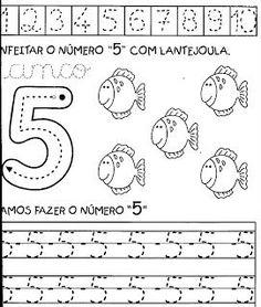 Algumas atividades para treinar os números de 1 a 10.                       FONTE: http://professoraclea.blogspot.com.br/search/label/ativ...