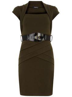 Khaki panel bolero dress dorothyperkins.com