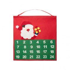 Calendario de adviento de original diseño navideño en non-woven. Con cinta para colgar. 9 And 10, Advent Calendar, Holiday Decor, Diy, Corporate Gifts, Ribbons, Noel, Bricolage, Handyman Projects