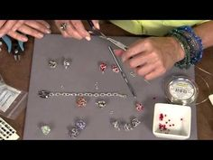 ▶ 1908-3 Laura Timmons creates a wire crochet bead ball bracelet on Beads, Baubles & Jewels - YouTube