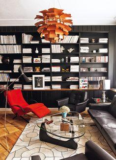 Buena lectura - AD España, © Pablo Zamora. Apartamento de Bibiana Fernández en Madrid, una casa de película de Hollywood decorada con la ayuda de Juan Gatti.
