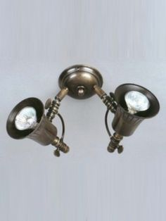 Twin spotlight with adjustable lamp heads.