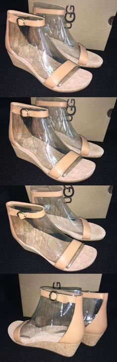 9b884aec9bc Adjustable ankle strap with buckle closure. Leather upper and lining rubber  sole. Ankle Strap SandalsUgg AustraliaUggsWedgesHeelsNatural ...