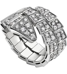 bvlgari serpenti 18kt whitegold and diamond ring