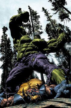 Hulk smash Wolverine - by ~Summerset | #comics