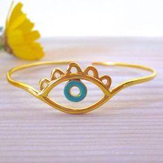 Evil Eye Bracelet Evil Eye Bangle Evil Eye Jewelry Gold