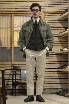 12 Useful Tips about Men's Fashion – Designer Fashion Tips Fashion 101, Japan Fashion, Fashion Images, Mens Fashion, Olive Jacket, Look Man, Future Clothes, Workwear Fashion, Japanese Street Fashion