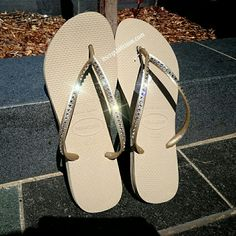 69a1d4c0d4f70 Crystalicious® Havaianas embellished with 1 row of Genuine SWAROVSKI®  ELEMENTS Only  95.00 AUD and