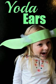 This Simple Home: Yoda Ears Headband Craft and Tutorial