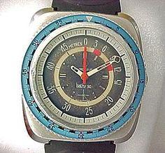 Favre-Leuba: Bathy reborn! Favre Leuba, Vintage Watches, Retro, Clocks, Retro Illustration, Mid Century