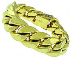 Estate_Gold_Chain_Link_Bracelet | New York Estate Jewelry | Israel Rose