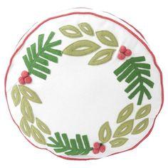 Wreath Round Pillow 14x14