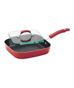 Another great find on #zulily! Red Gradient Griddle & Sandwich Press Set by Rachael Ray #zulilyfinds