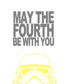 May the 4th be with you - awesome Star Wars print