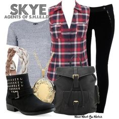 agents of shield :) I love Skye's style, it's very me.