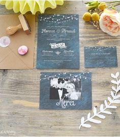 faire part mariage ardoise vintage happy chantilly 3 - Boutonnire Invit Mariage