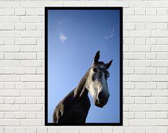 Paard portret paard afdrukbare kunst paard print door Brutesprookjes