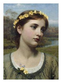 Giclee Print: Spring Maiden Art Print by Frank Dicksee by Frank Bernard Dicksee : 24x18in