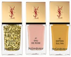 YSL La Laque Couture Spicy Collection Spring 2014 - Feuille D'Or
