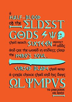 The Great Prophecy Percy Jackson and the Olympians - Rick Riordan -