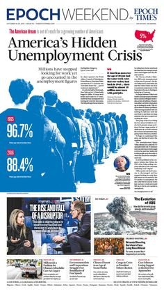 America's Hidden Unemployment Crisis|Epoch Times Newspaper Front Pages, Newspaper Cover, Times Newspaper, Front Pages Of Newspapers, Newspaper Headlines, Newspaper Design Layout, Layout Design, Design Web, Design Trends