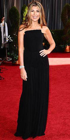 Love it. Nina Garcia - can't help myself - I love a black dress. #oscars